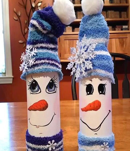 снеговики из трубы
