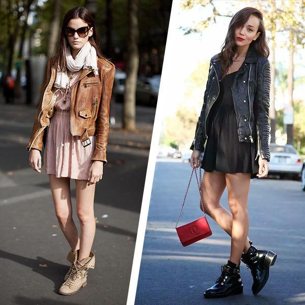 Идеальное сочетание: ботинки + платье