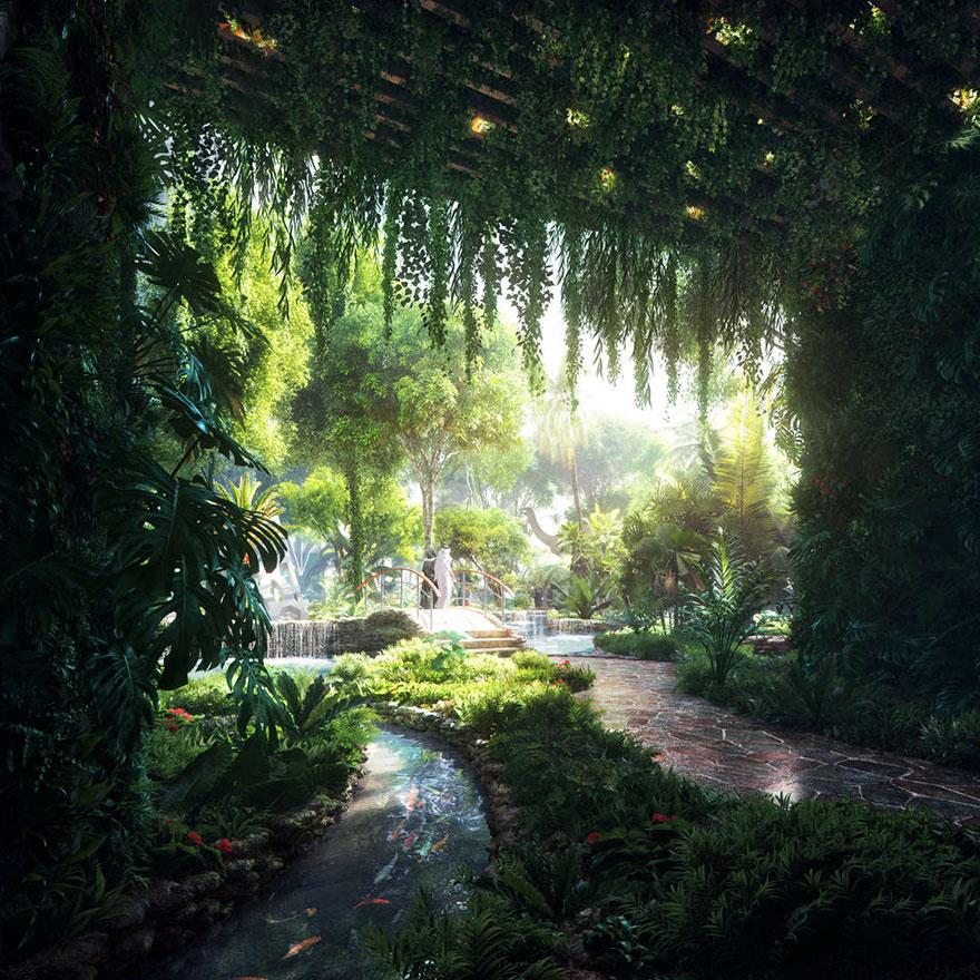 В Дубае появится первый в мире отель с собственным искусственным лесом