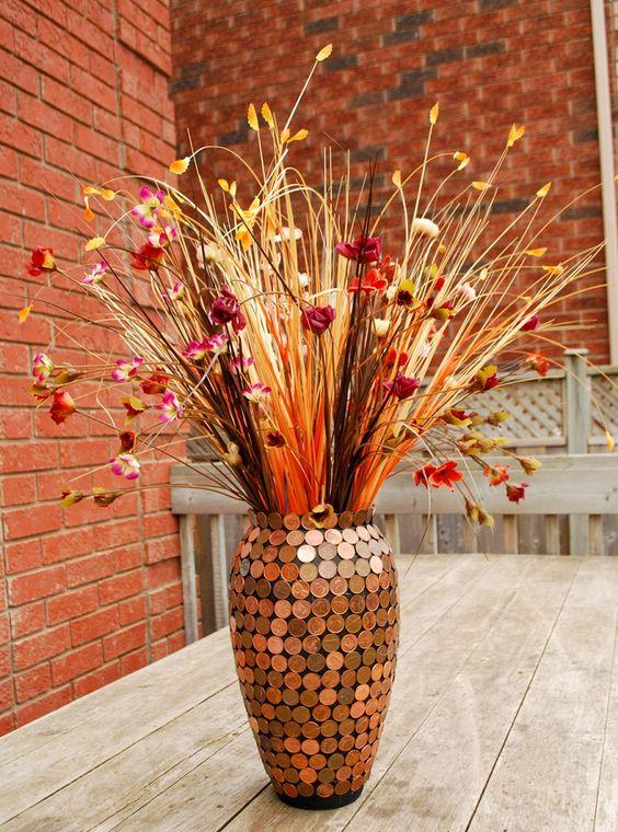 Как декорировать своими руками напольную вазу 39