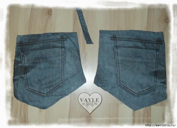 Как сшить жилет из старых джинсов (3) (700x508, 219Kb)