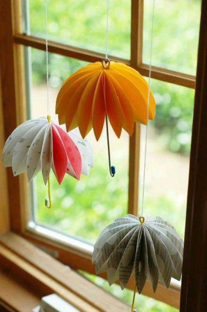 Зонтик своими руками из картона