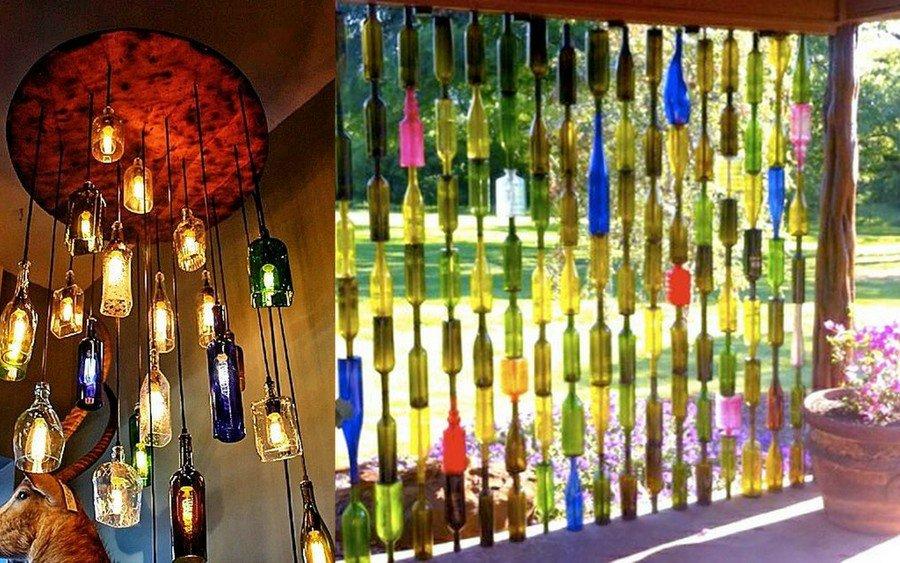 Изделия из бутылок стеклянных