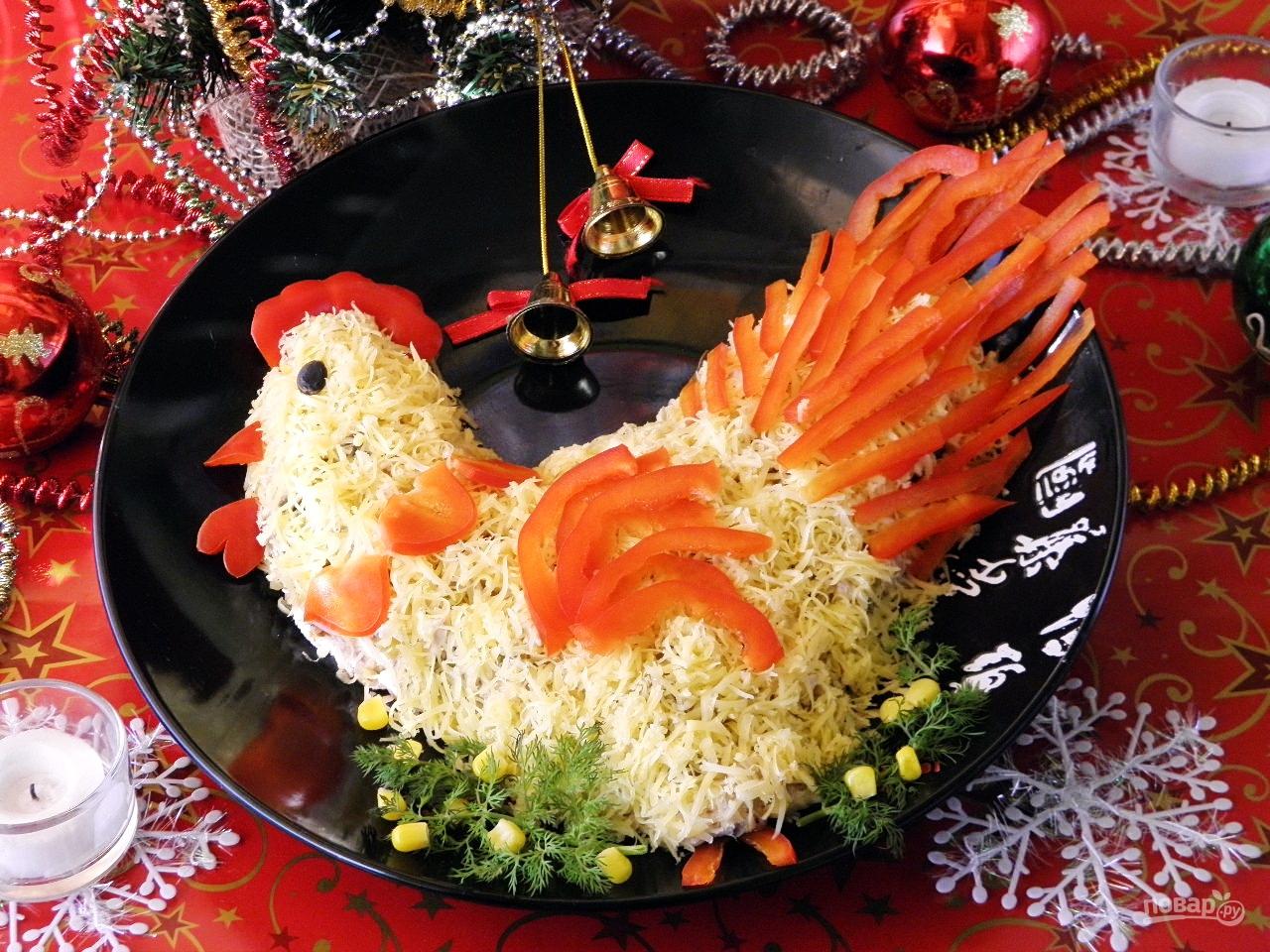 Вкусные салаты на новый год без яиц