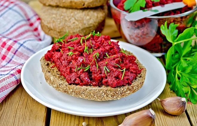 Постные бутербродики со свеклой, очень вкусные, витаминные!