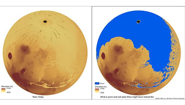 Планетологи раскрыли секрет появления каналов на Марсе