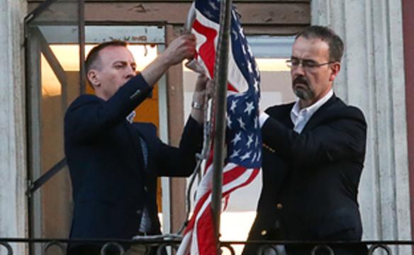 Американские дипломаты покинули Москву в последний день предписания