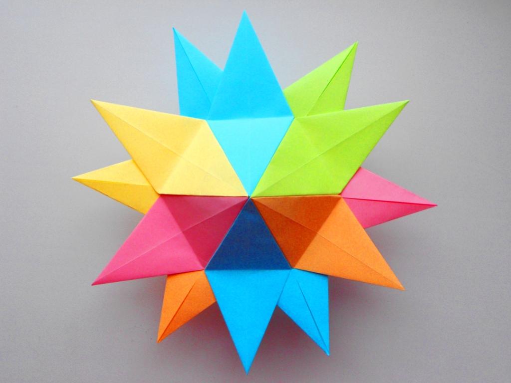 Новогодняя оригами звезда из…