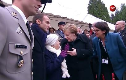 Столетняя француженка перепутала Меркель с женой Макрона
