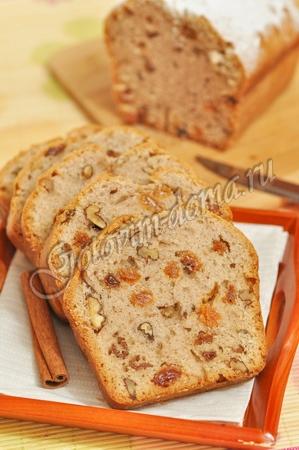 Кекс на яблочном отваре с корицей (постный)