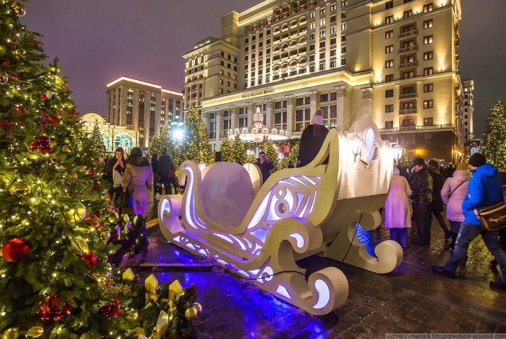 Прогулка по новогодней Москве 2017