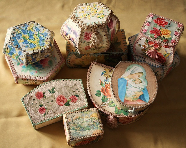Vintage Greeting Card Baskets