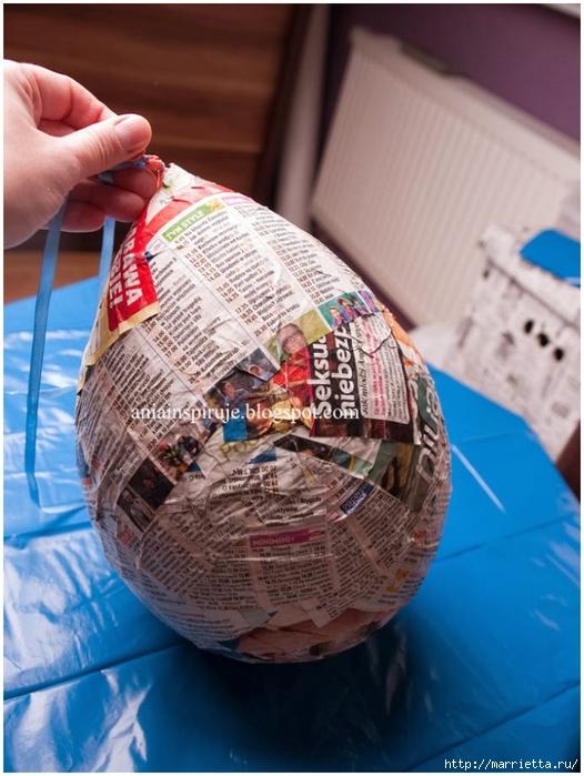 Как сделать и папье маше яйцо 180