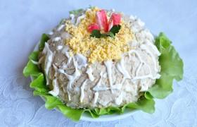 Салат из печени трески классический – пошаговый фоторецепт