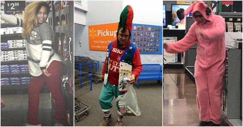 Экстравагантные покупатели Walmart walmart, в мире, люди, магазин, мода, одежда, покупатели, чудики