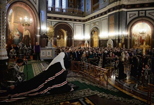 Вцерквях имонастырях отслужат вечерни сособым «чином прощения»
