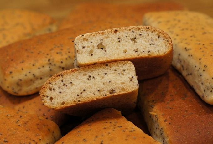 Пышные хлебцы с маком