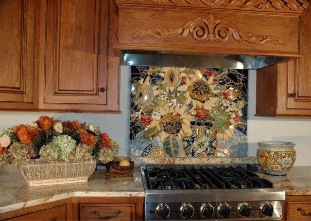 Декупаж кухонной плитки