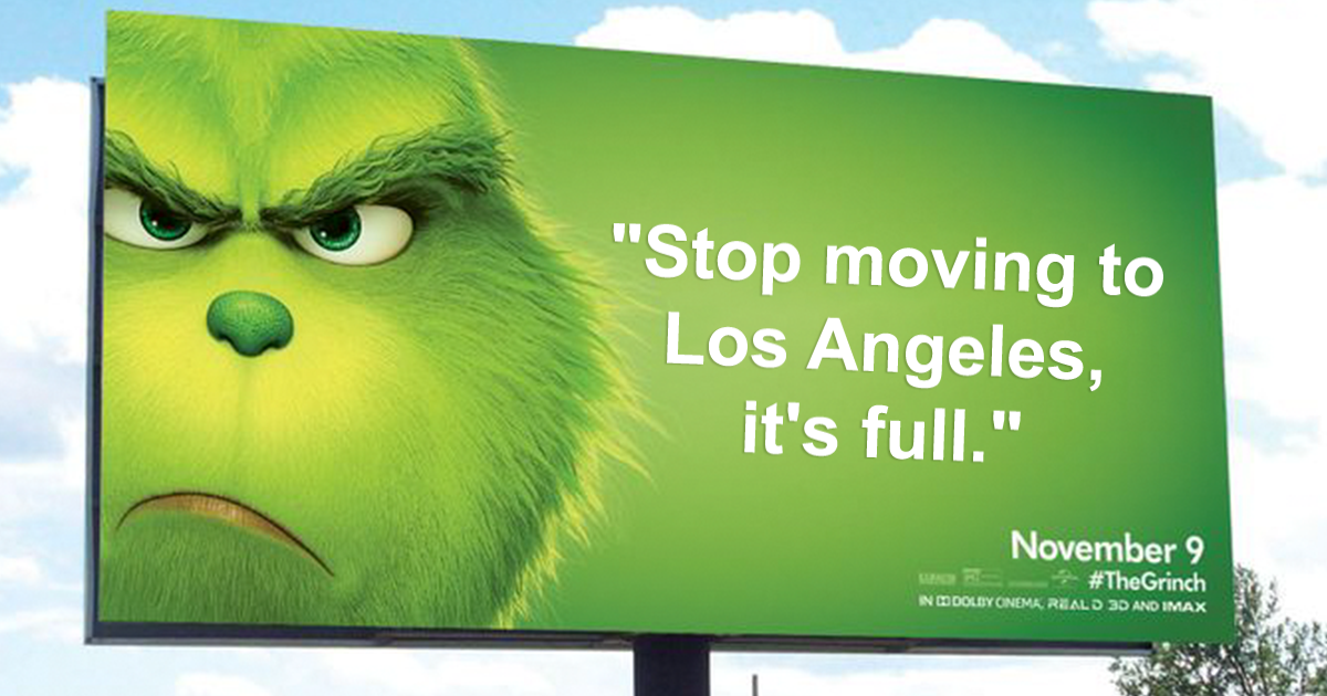 The Grinch Movie Remake's Hilarious Posters Appear In The US Cities To Attract Millenials And Gen Z