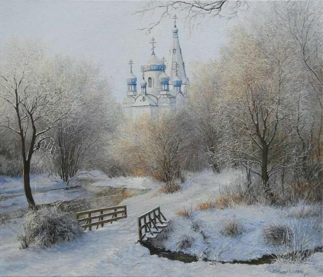 зимние пейзажи Ольга Дидык - 09