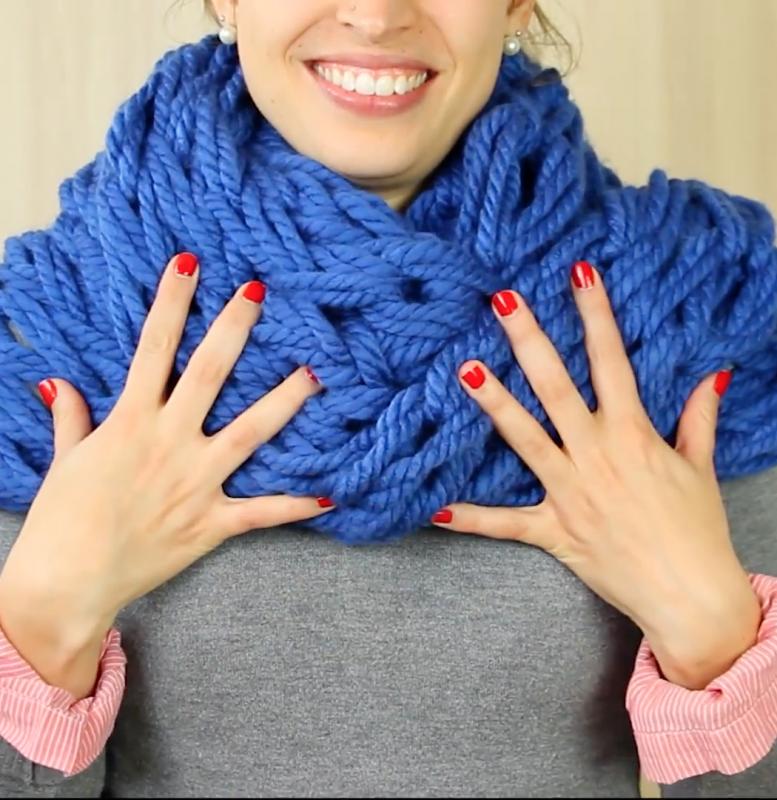 Вязание необычного шарфа 13
