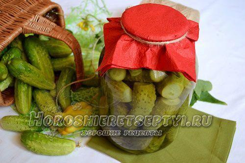 Огурцы с яблочным уксусом на зиму