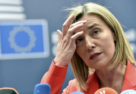 Могерини заявила о готовности ЕС поддержать ввод миротворцев в Донбасс