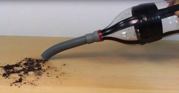 Из пластиковой бутылки можно сделать портативный пылесос. Мы научим тебя