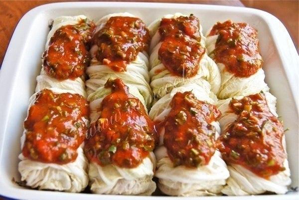 Достойный ужин для любимых: Нежные Голубцы Из пекинской Капусты