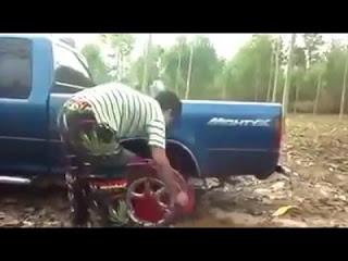 Невероятное изобретение против застревания в грязи