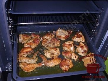 Курица кусочками с картошкой запеченная в духовке рецепт