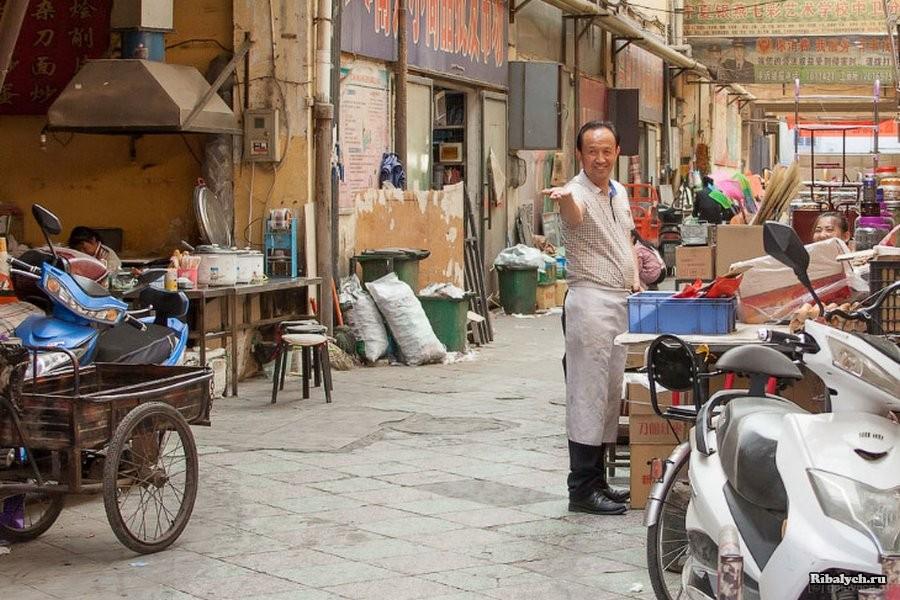 Прогулка по типичному китайскому рынку