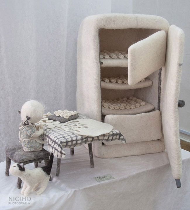 Войлочные скульптуры Ирины Андреевой. Фото