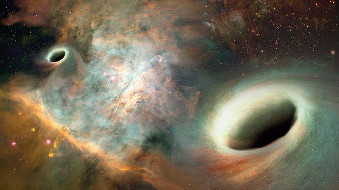 Ученые обнаружили «флиртующие друг с другом» черные дыры