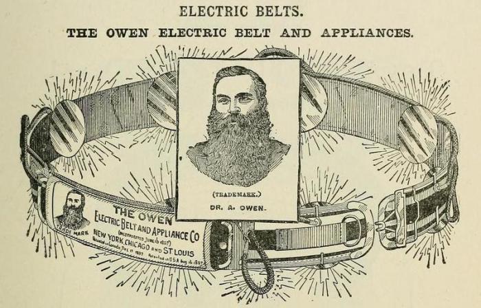 Медицина XIX века: электрические пояса, которыми «лечили» мужские недуги
