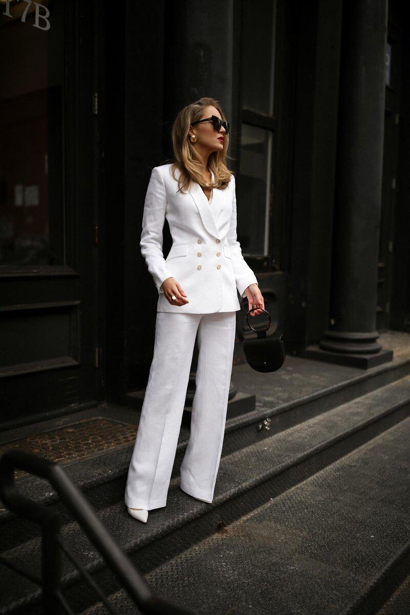 Белый костюм – вещь в стиле lady like. /Фото: memorandum.com