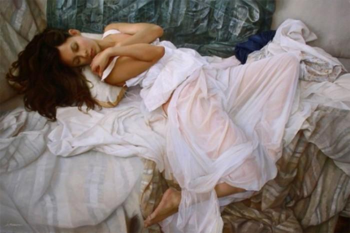 Поэзия женского тела в гиперреалистичных масляных картинах Сергея Маршенникова (Serge Marshennikov).