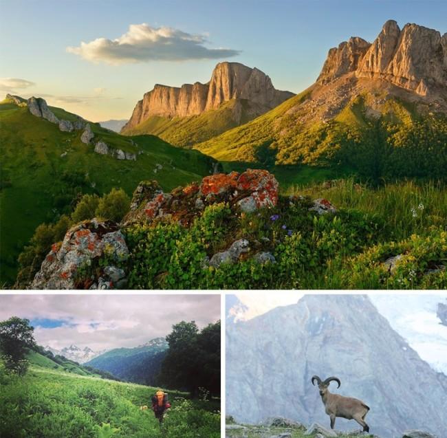 Лучшие места, которые могут посетить пешие туристы в России (10 фото)