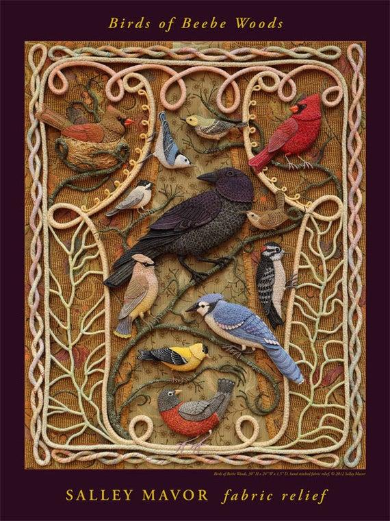Birds of Beebe Woods 18 x 24 Poster