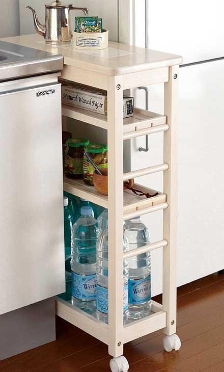 Идеи для маленькой кухни — с толком и удовольствием используем место у холодильника