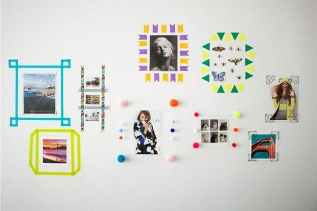 Декорирование стен: 29 творческих идей   дизайн, идея, креатив, стена