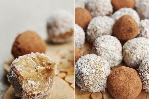 Ореховые конфеты с кокосовой стружкой