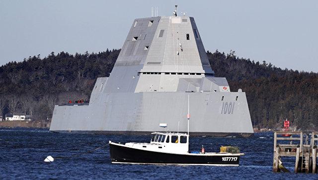 Американский эсминец-невидимка сломался во время испытаний