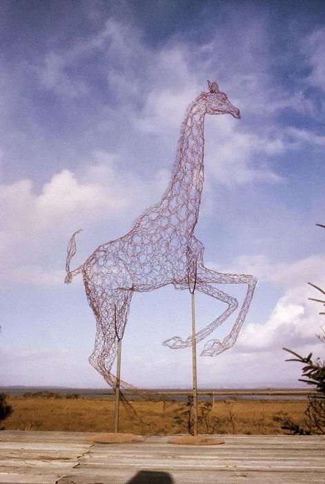 Жираф из проволоки.