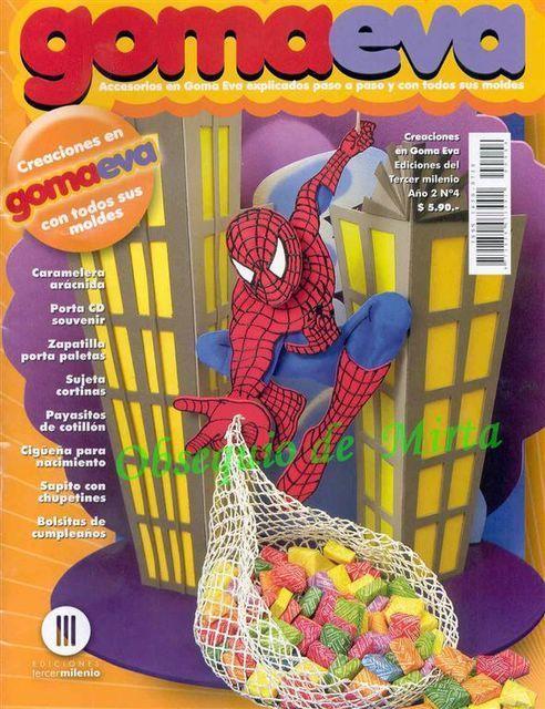 Испанский журнал о поделках из фоамирана Creaciones en Goma Eva 04 2008