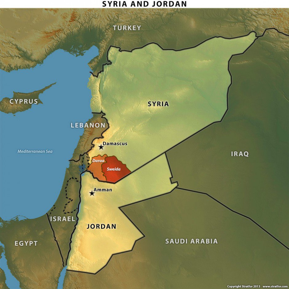 На сирийско-иорданской границе