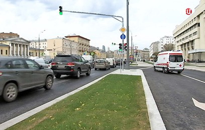 В районе Зубовского бульвара изменилась схема движения