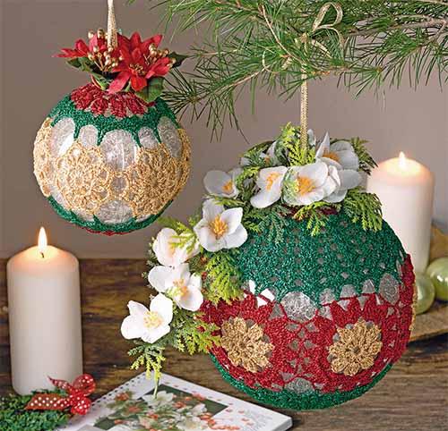 шарики с цветочным декором