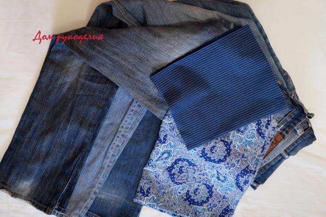 Шьем новый рюкзак из старых джинсов