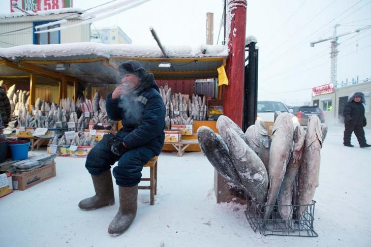 Якутия в обычный зимний день